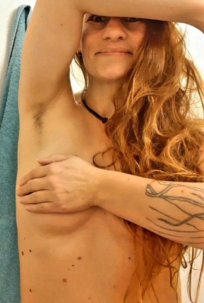 hairy armpits redhead skin
