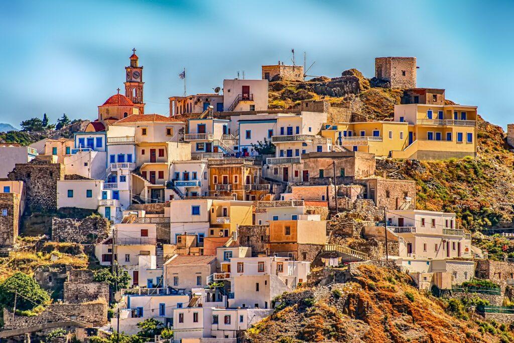 Grækenland by bjerg rejse