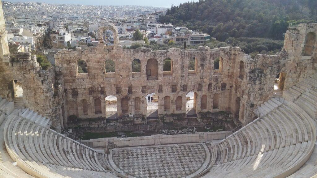Græsk theatre ruin historie grækenland