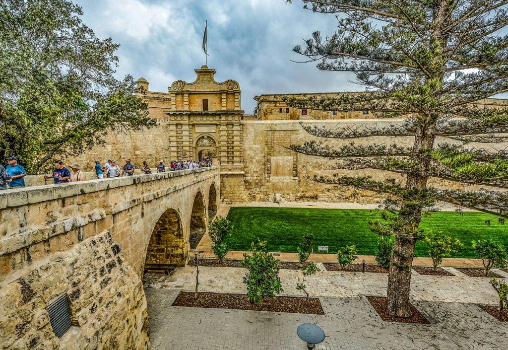 Malta Mdina Middelalderby middelalder Byport